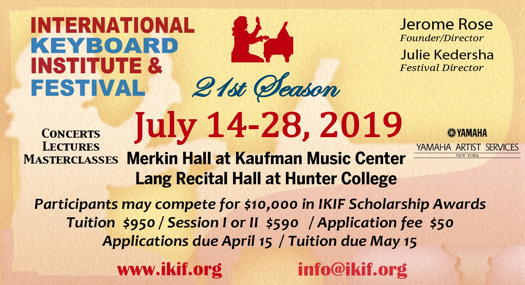 Classical music news - International Keyboard Institute and Festival